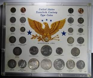 US TWENTIETH CENTURY TYPE COINS (28)