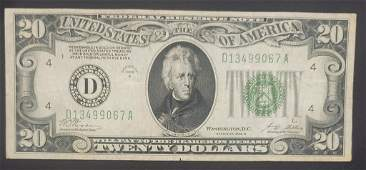 1928B $20 FEDERAL RESERVE NOTE