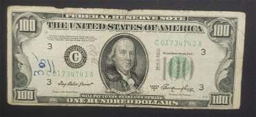 1950A $100 FEDERAL RESERVE NOTE - CIRC