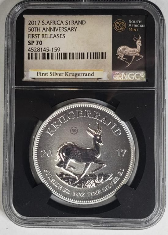 2017 South African Krugerrand NGC SP70 - 1st Relea