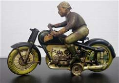 Vintage Arnold Mac 700 Tin Litho Motorcycle - Rare