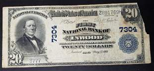 1904 $20 NATIONAL BANK NOTE