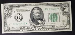 1934C $50 STAR NOTE - CHICAGO