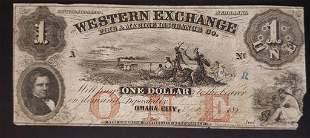 1856 $1 WESTERN EXCHANGE OBSOLETE