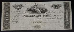 FRANKFORT BANK KENTUCKY $5 NOTE