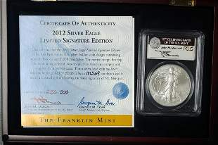 2012 Silver Eagle PCGS MS69 - Mercanti Signed