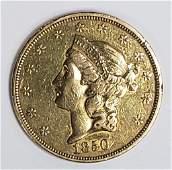1850 $25 LIBERTY GOLD COIN