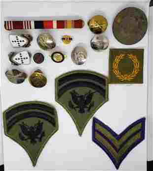 VTG MILITARY PIN & PATCH LOT