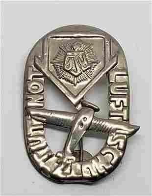 WWII German Luftschutz Tut Not Tinnie Pin