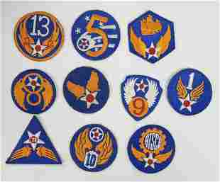 10 WWII US Army Airforce Shoulder Patches
