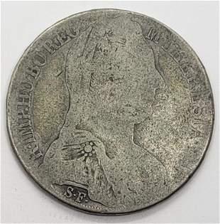 M THERESIA ARCHID AVST DUX BURG CO TYR 1781