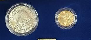 1987 Silver & Gold Constitution Commemorative Coin