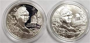1999 Dolley Madison Commemorative 2-Silver Dollar