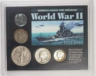 America Fights For Freedom WWII Silver Coin Set