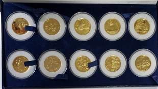 Statehood Quarter Dollars 24kt Gold Plated 1999-20