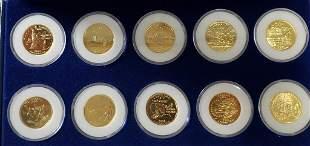 Statehood Quarter Dollars 24kt Gold Plated 2001-20
