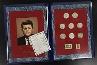 JFK Commemorative Coin & Stamp Portfolio - Silver