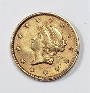 1851 $1 LIBERTY HEAD GOLD COIN