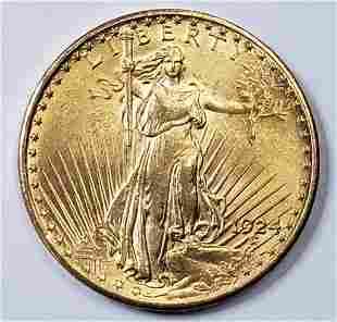 1924 $20 GOLD ST GAUDENS