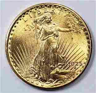 1925 $20 GOLD ST GAUDENS