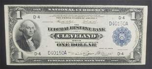 AU 1918 $1 NATIONAL CURRANCY CLEVELAND OH
