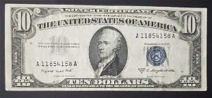 1953 $10 SILVER CERTIFICATE