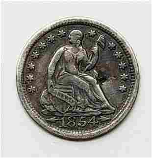 1854 Seated Liberty Half Dime - Arrows