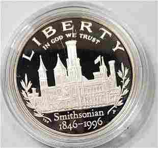 1996 P SMITHSONIAN PROOF SILVER COMMEM