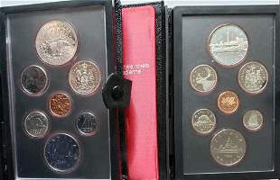 Double Stuck 1980 & 1984 Canadian Mint Sets - Silv