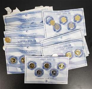 49 Presidential Dollars - Gold Plated