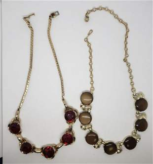 2-VINTAGE GOLD TONED NECKLACES: (1)CORO WITH