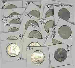 20-KENNEDY HALF DOLLARS - MIXED LOT