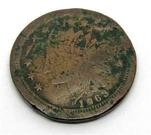 1863 CIVIL WAR TOKEN INDIAN HEAD