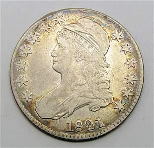 1821 CAPPED BUST HALF DOLLAR