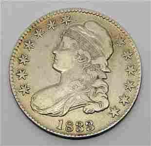 1833 CAPPED BUST HALF DOLLAR