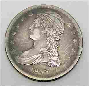 1837 CAPPED BUST HALF DOLLAR