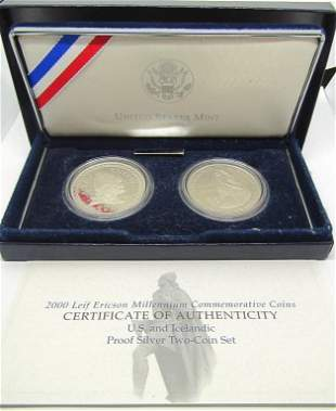 2000 LEIF ERICSON MILLENNIUM (2) COIN SET