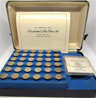 PRESIDENTIAL MINI-COIN SET STERLING SILVER