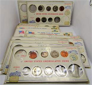 14-STARTER U.S. COIN STARTER SETS BU/UNC