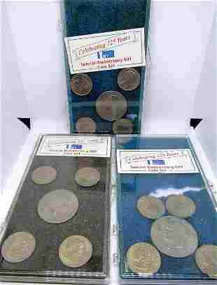 (3) SPECIAL ANNIV GIFT COIN SETS