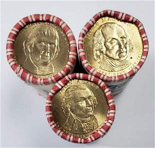 3 Unsearched Bank Rolls Presidential Dollars