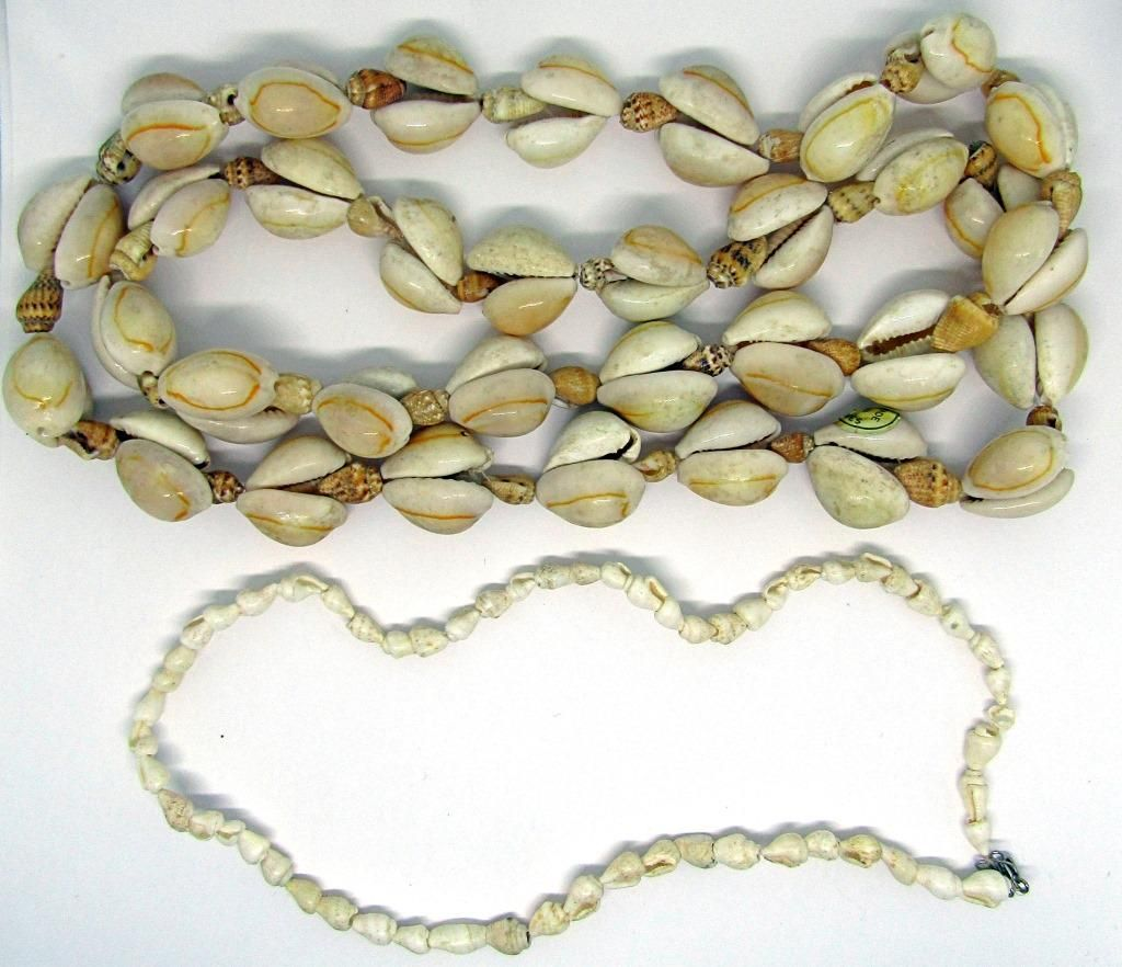 -SEASHELL NECKLACES: (1)MADE IN PHILIPINES