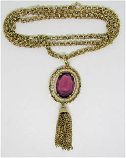 VINTAGE AVON GOLD TONED NECKLACE WITH
