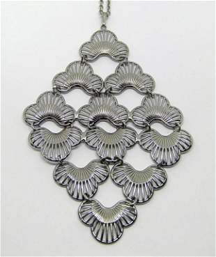VTG SARAH COVENTRY SILVER TONED NECKLACE