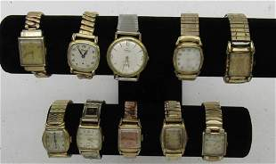10 MENS MECHANICAL WATCHES-AVALON-WALTHAM-MISC