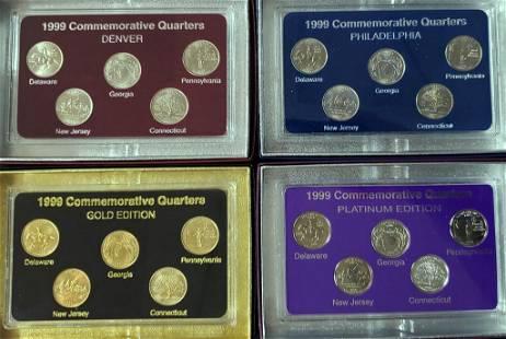 999 FIFTY STATES COMMEMORATIVE (4)PC SET