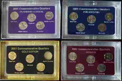 2001 FIFTY STATES COMMEMORATIVE (4)PC SET