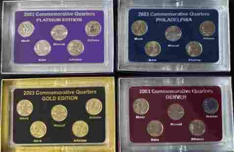 2003 FIFTY STATES COMMEMORATIVE (4)PC SET