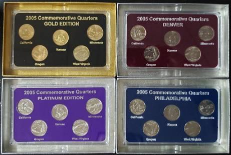 2005 FIFTY STATES COMMEMORATIVE (4)PC SET