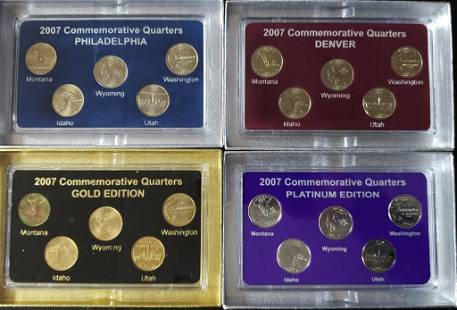 2007 FIFTY STATES COMMEMORATIVE (4)PC SET